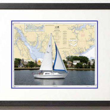 Boat Chart Art